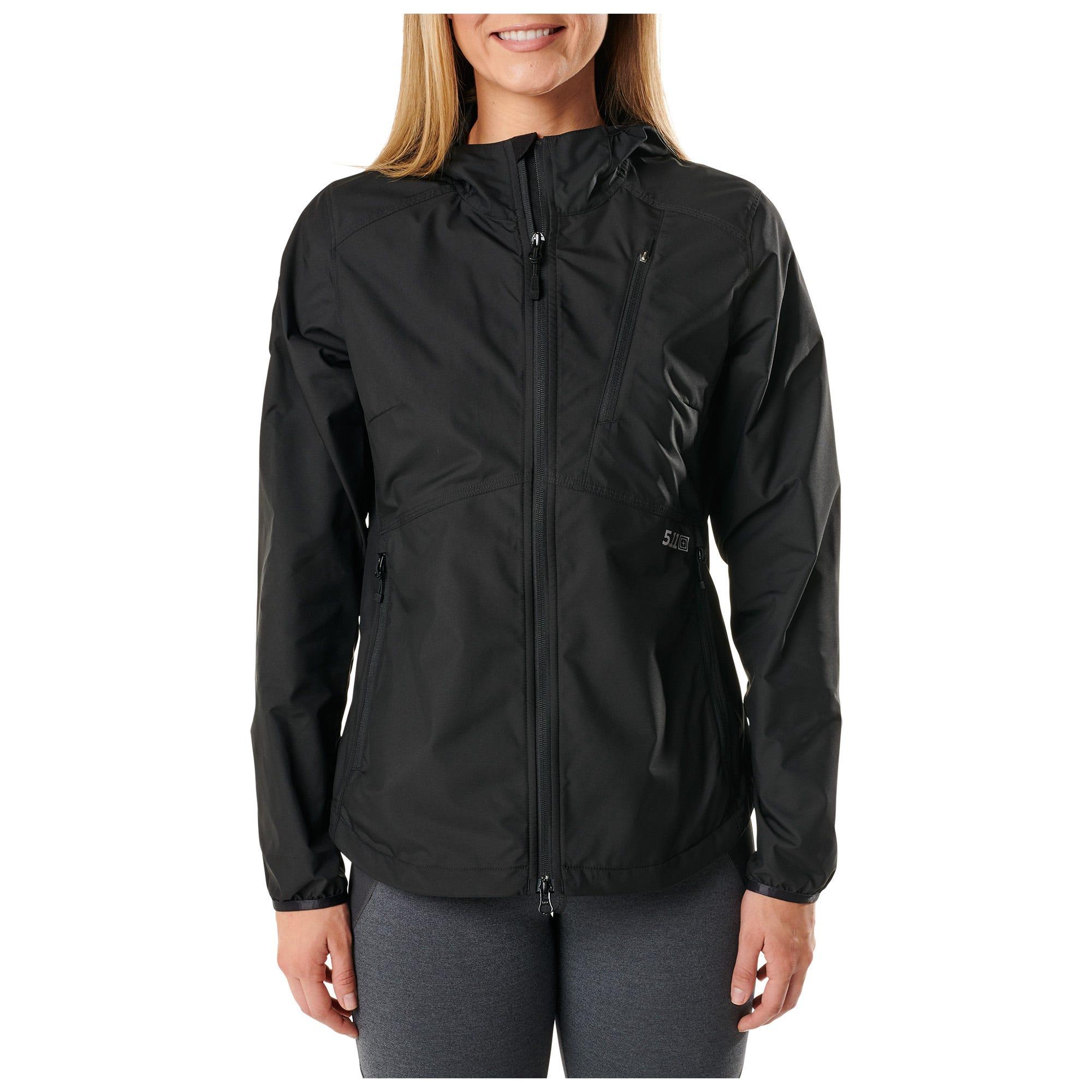 5.11 Tactical Women's Cascadia Windbreaker Packable Jacket (Grey)
