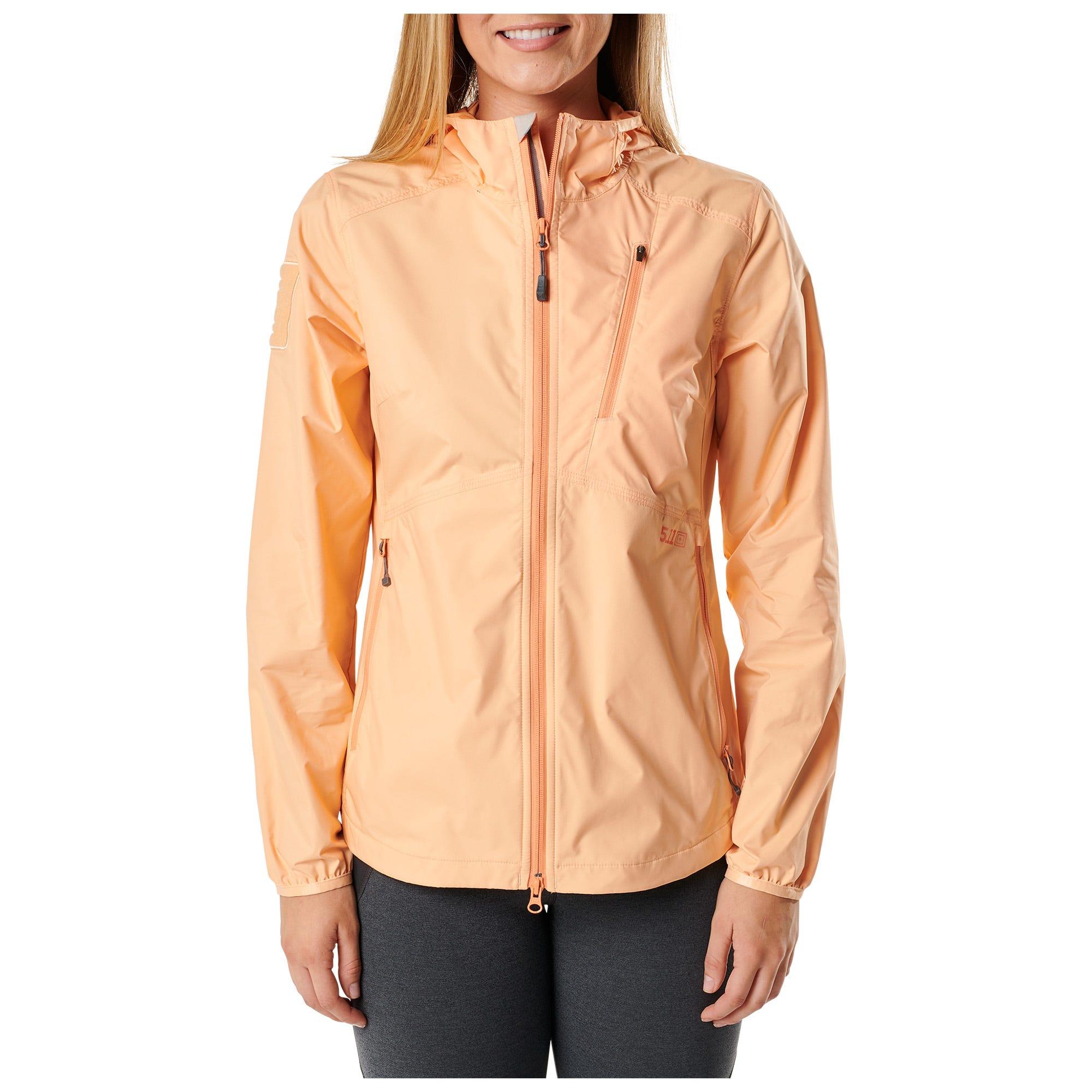 5.11 Tactical Women Women's Cascadia Windbreaker Packable Jacket (Grey) thumbnail