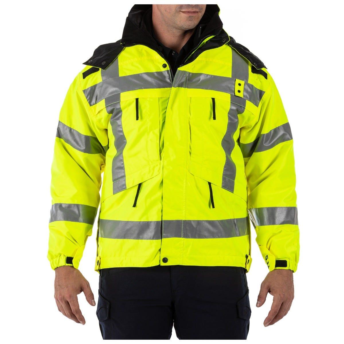 5.11 Tactical Men's 3-in-1 Reversible High-Visibility Parka Jacket (Yellow) thumbnail