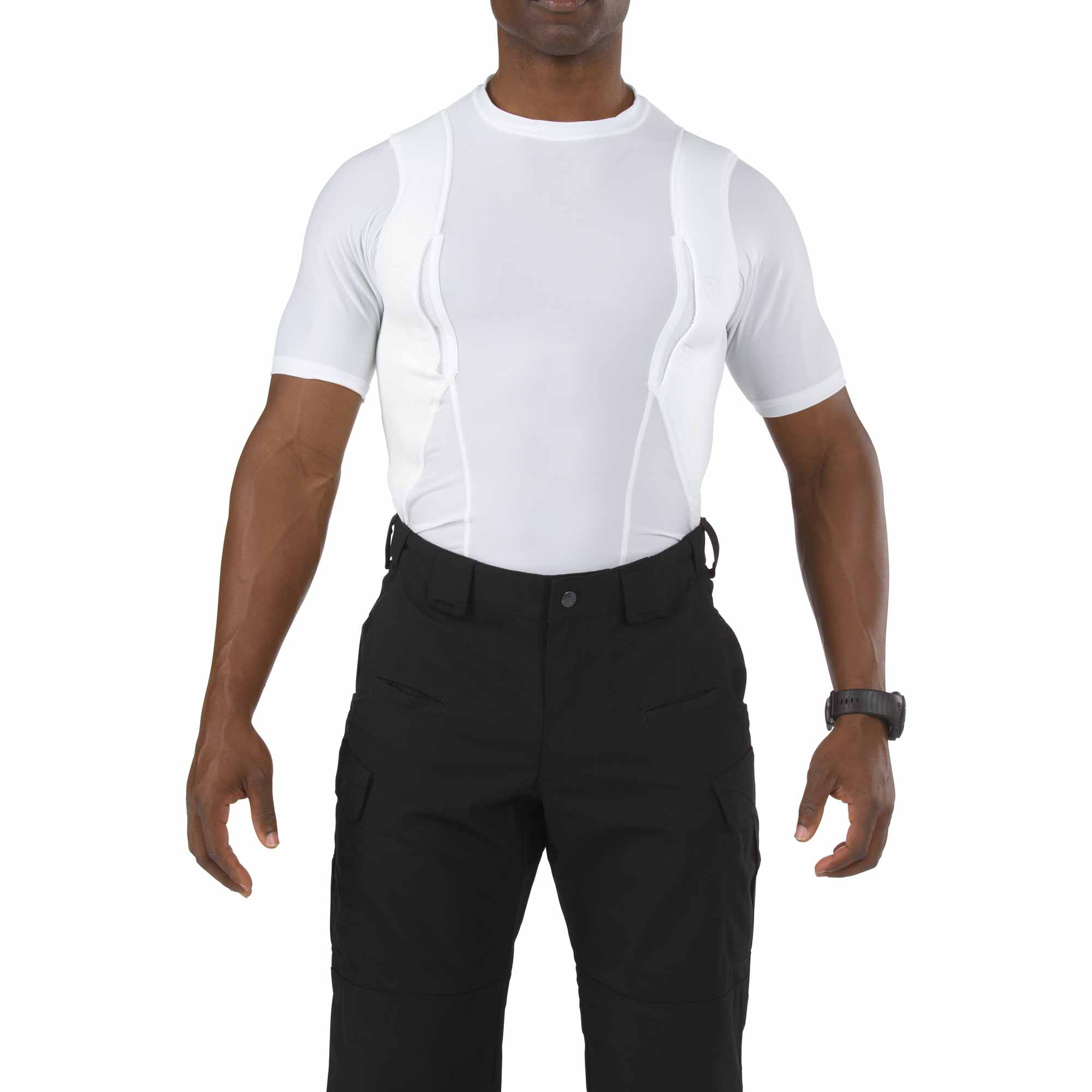 5.11 Tactical Men Holster Shirt (White), Size M (CCW Concealed Carry)