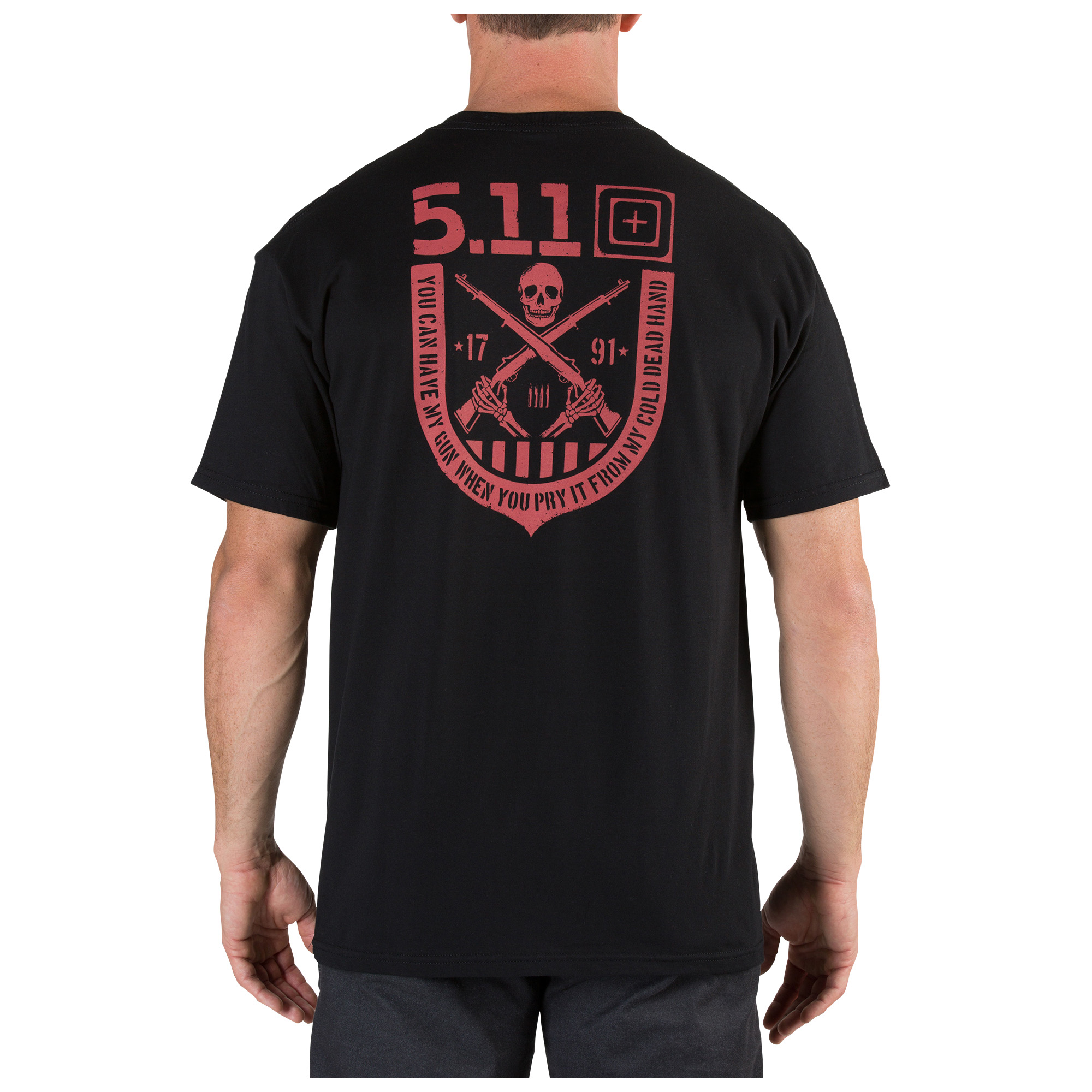 1801 Tee; Black 100% Cotton; Charcoal 50/50