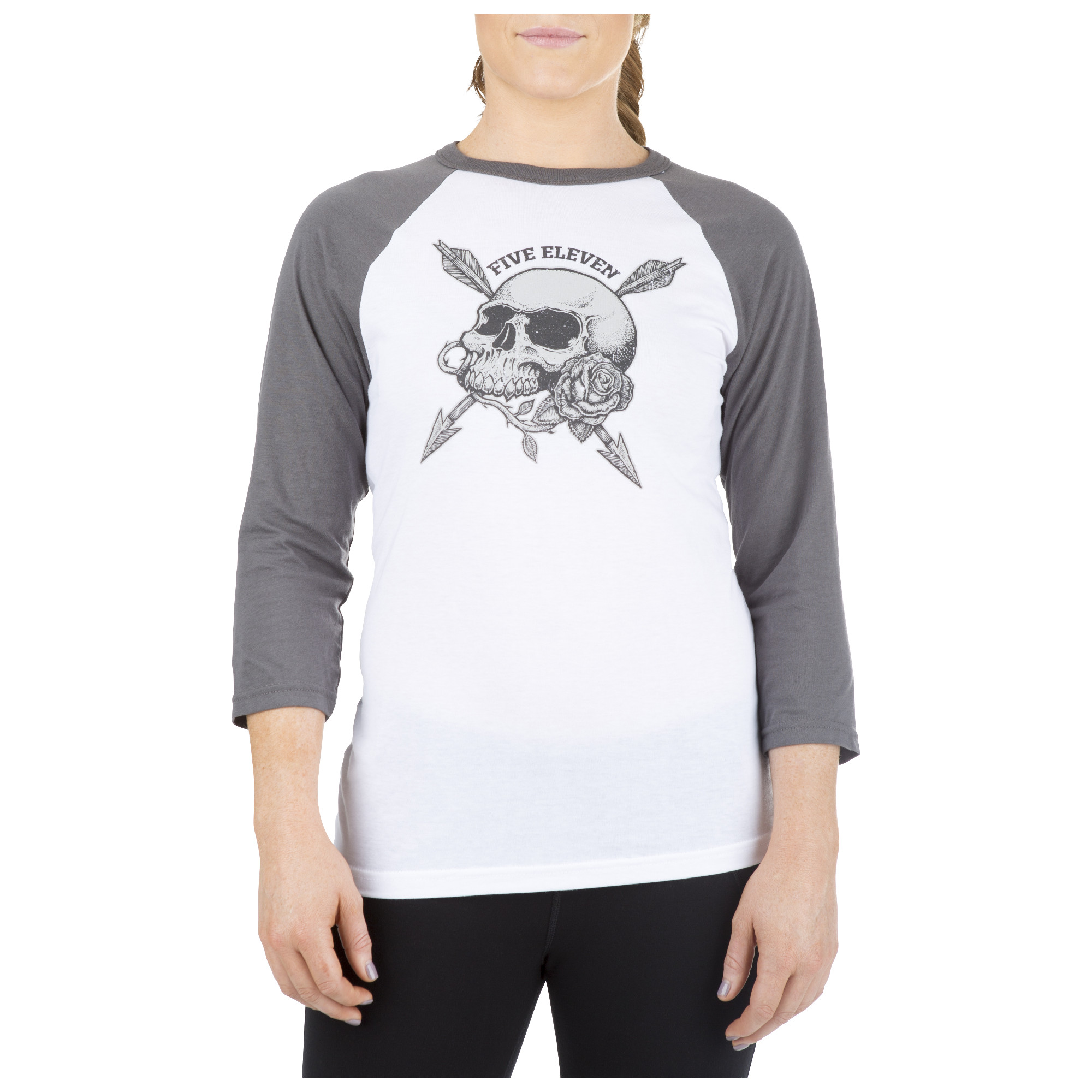 5.11 Tactical Women's War and Roses Baseball Tee (White)