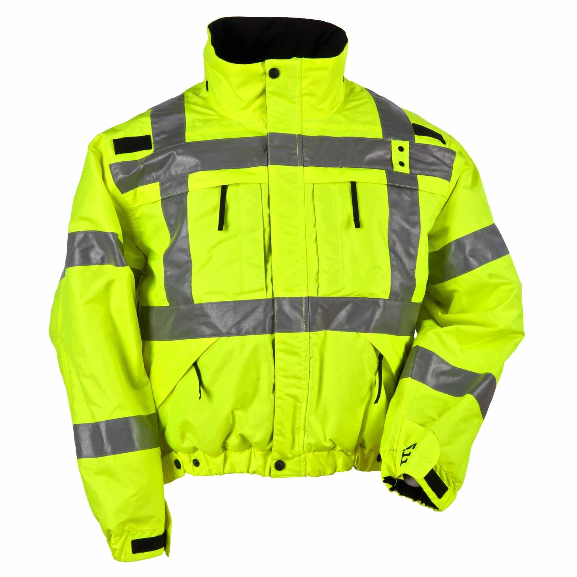 5.11 Tactical Men's Reversible Hi-Vis Jacket (Yellow)