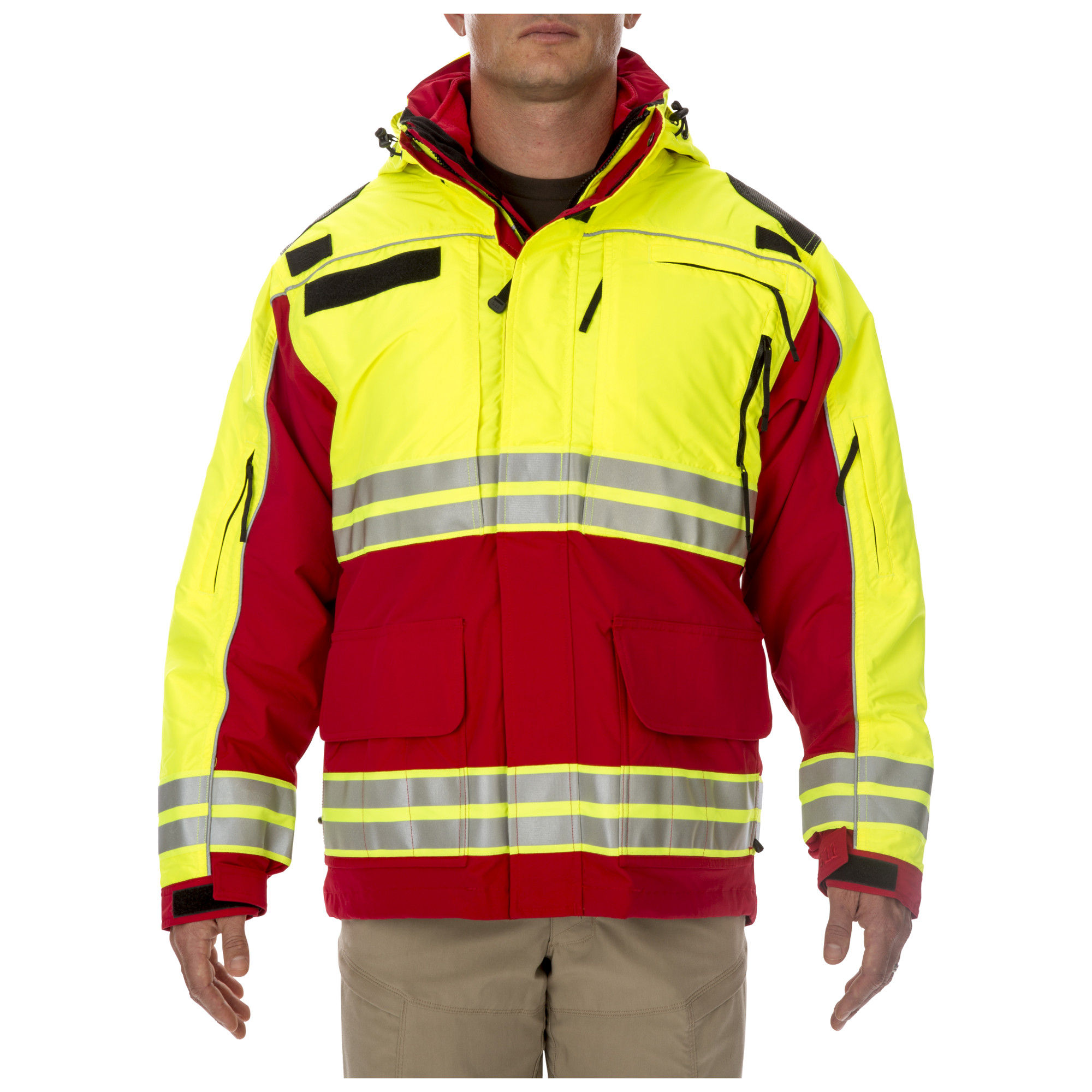 5.11 Tactical Men's Responder High-Visibility Parka Jacket (Red)