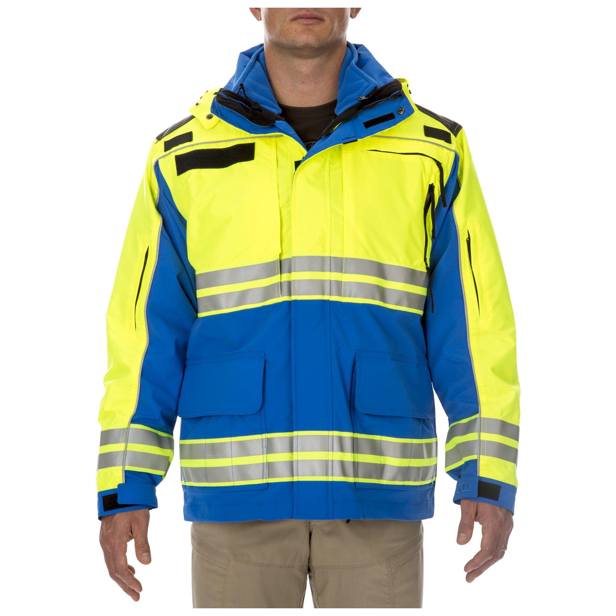 5.11 Tactical Men's Responder High-Visibility Parka Jacket (Blue)