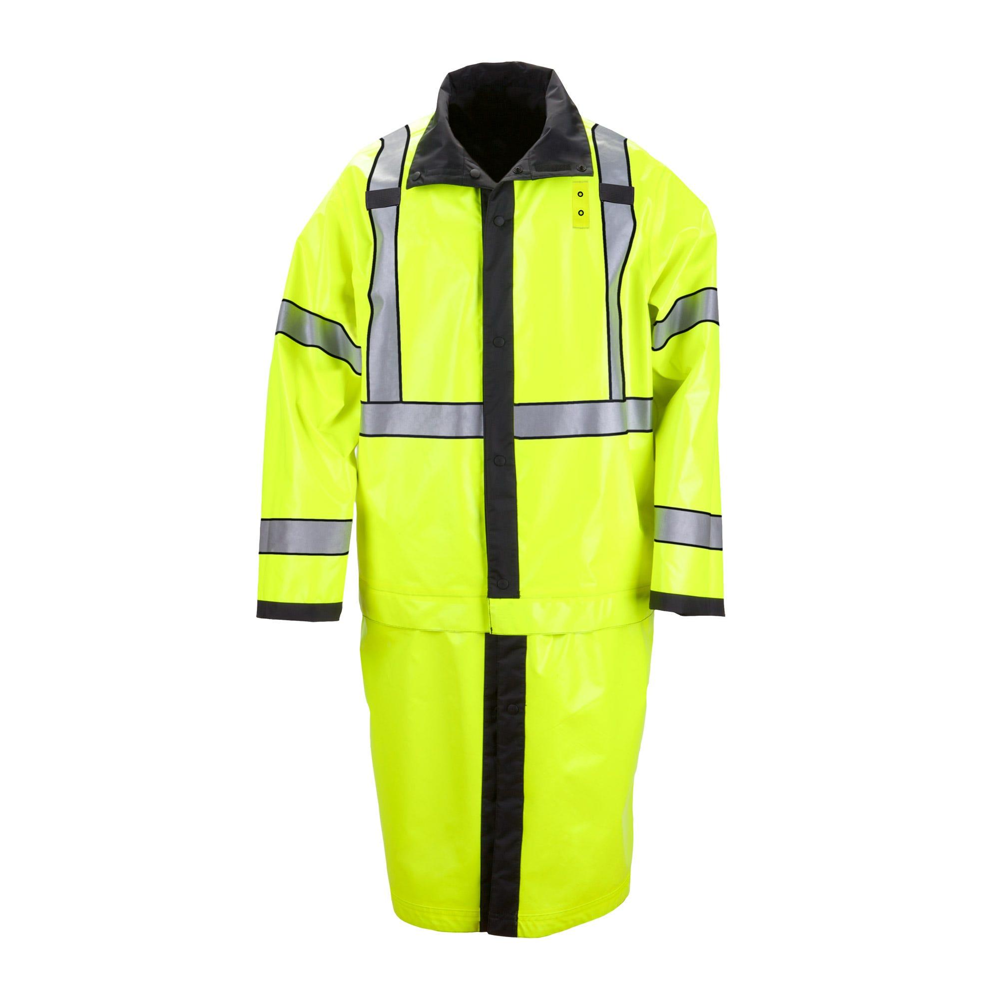 5.11 Tactical Men's Reversible Hi-Vis Rain Coat (Black)
