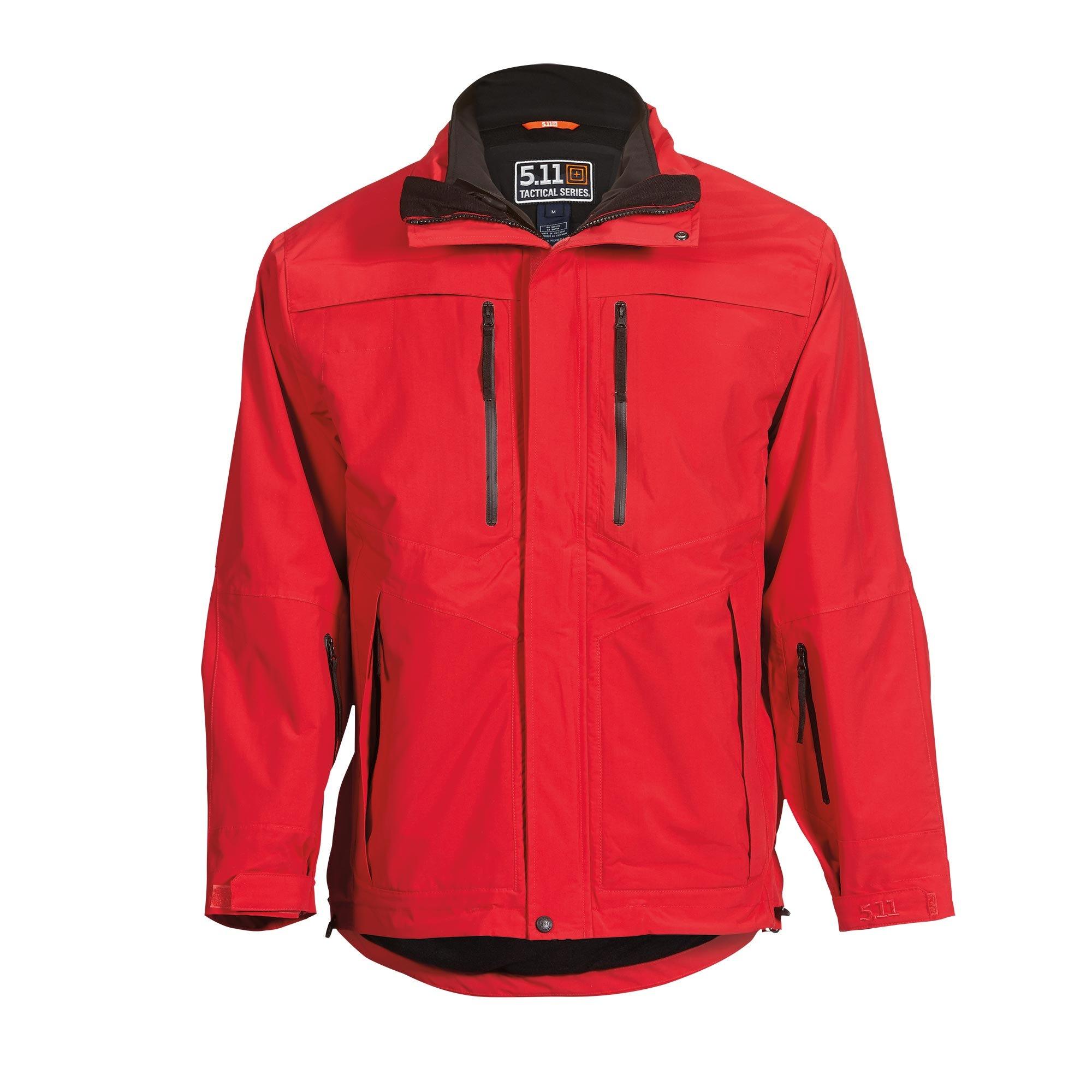 5.11 Tactical Men Bristol Parka Jacket (Red)