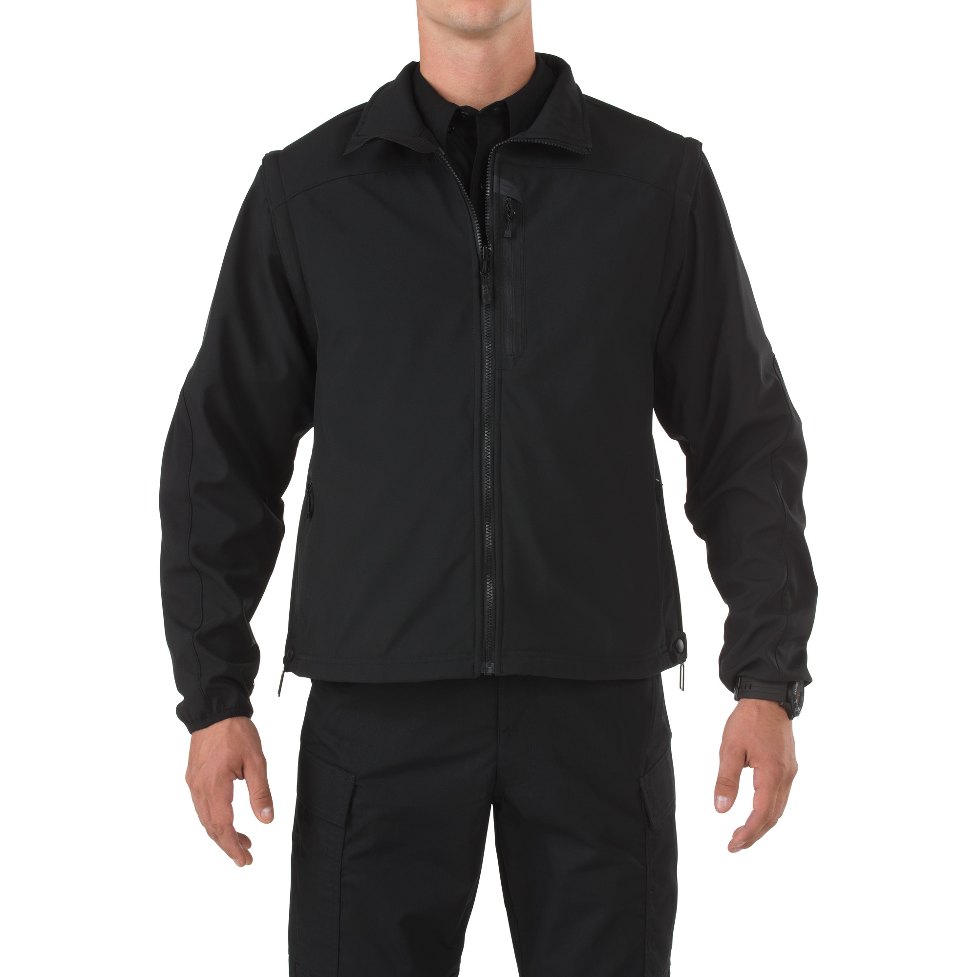 5.11 Tactical Men's Valiant Softshell Jacket (Black) thumbnail
