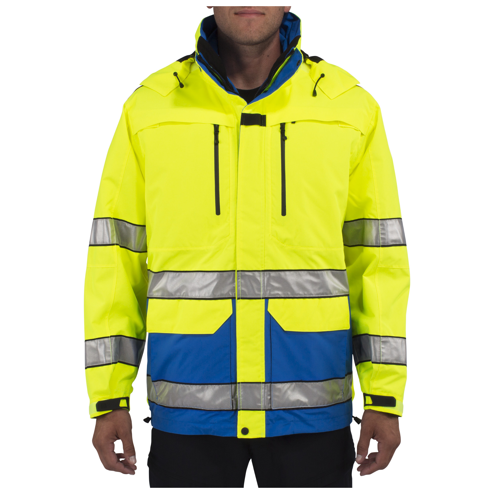 5.11 Tactical Men's First Responder High Visibility Jacket (Blue;Yellow)