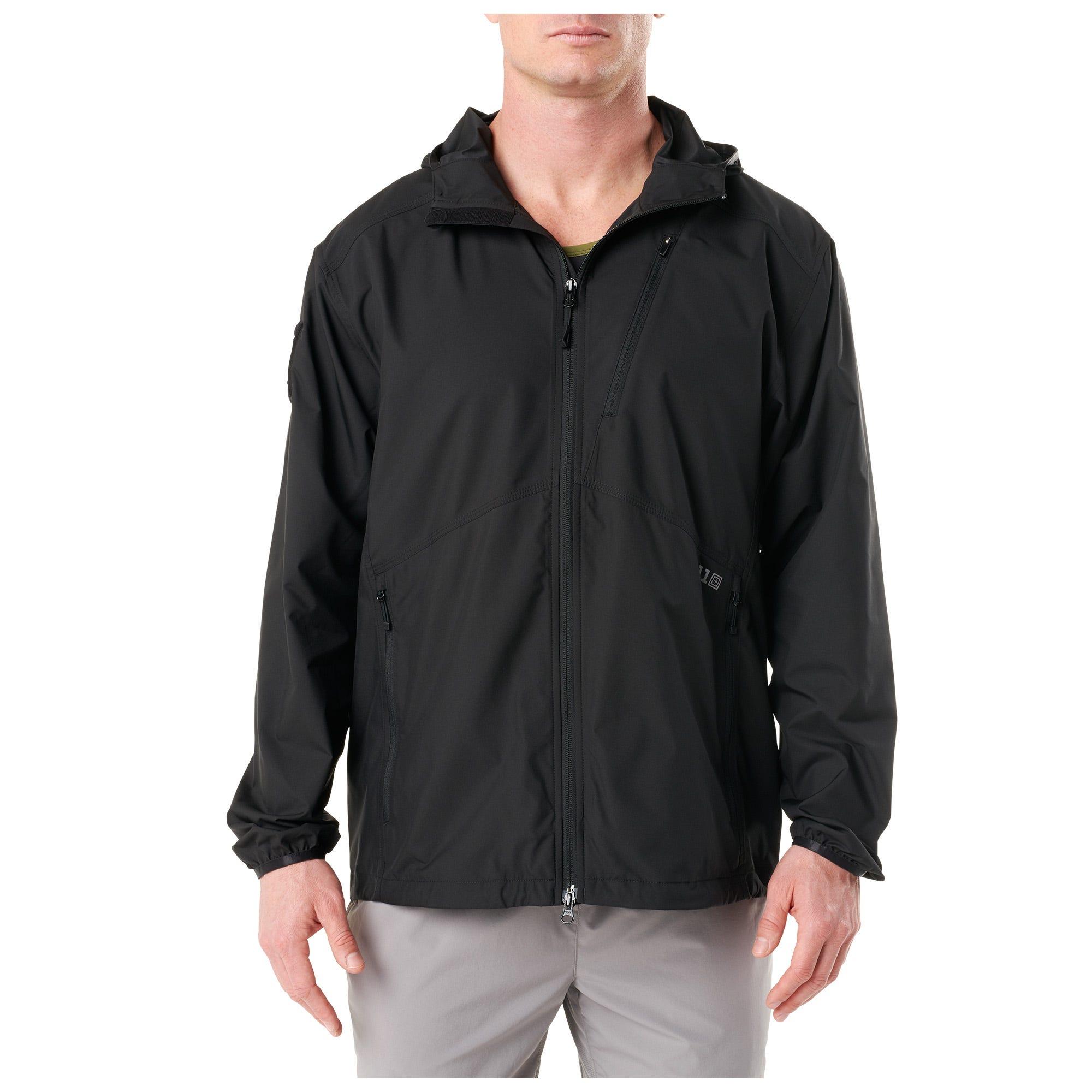 5.11 Tactical Men Cascadia Windbreaker Packable Jacket (Green)