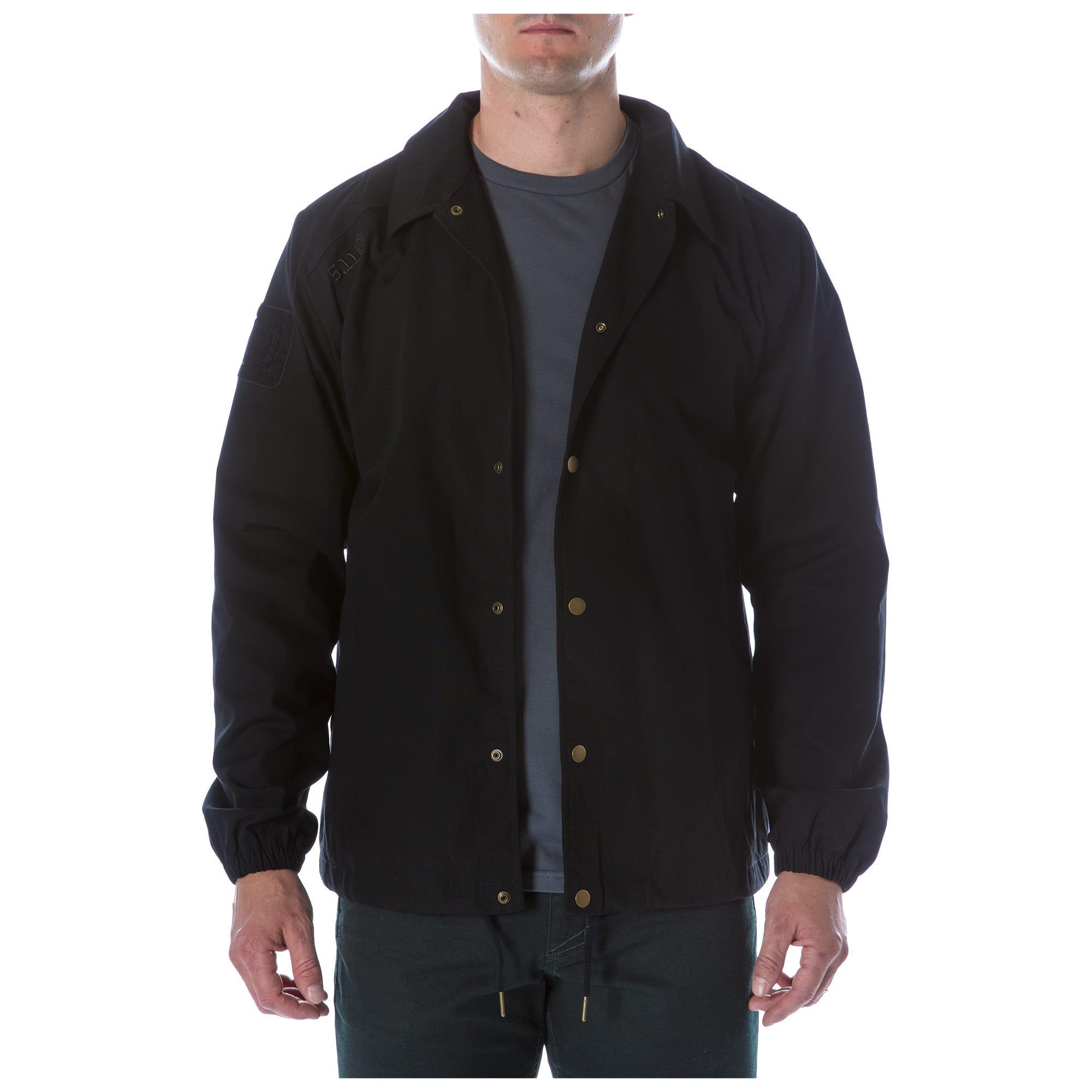 5.11 Tactical Men Crest Coaches Jacket (Black)