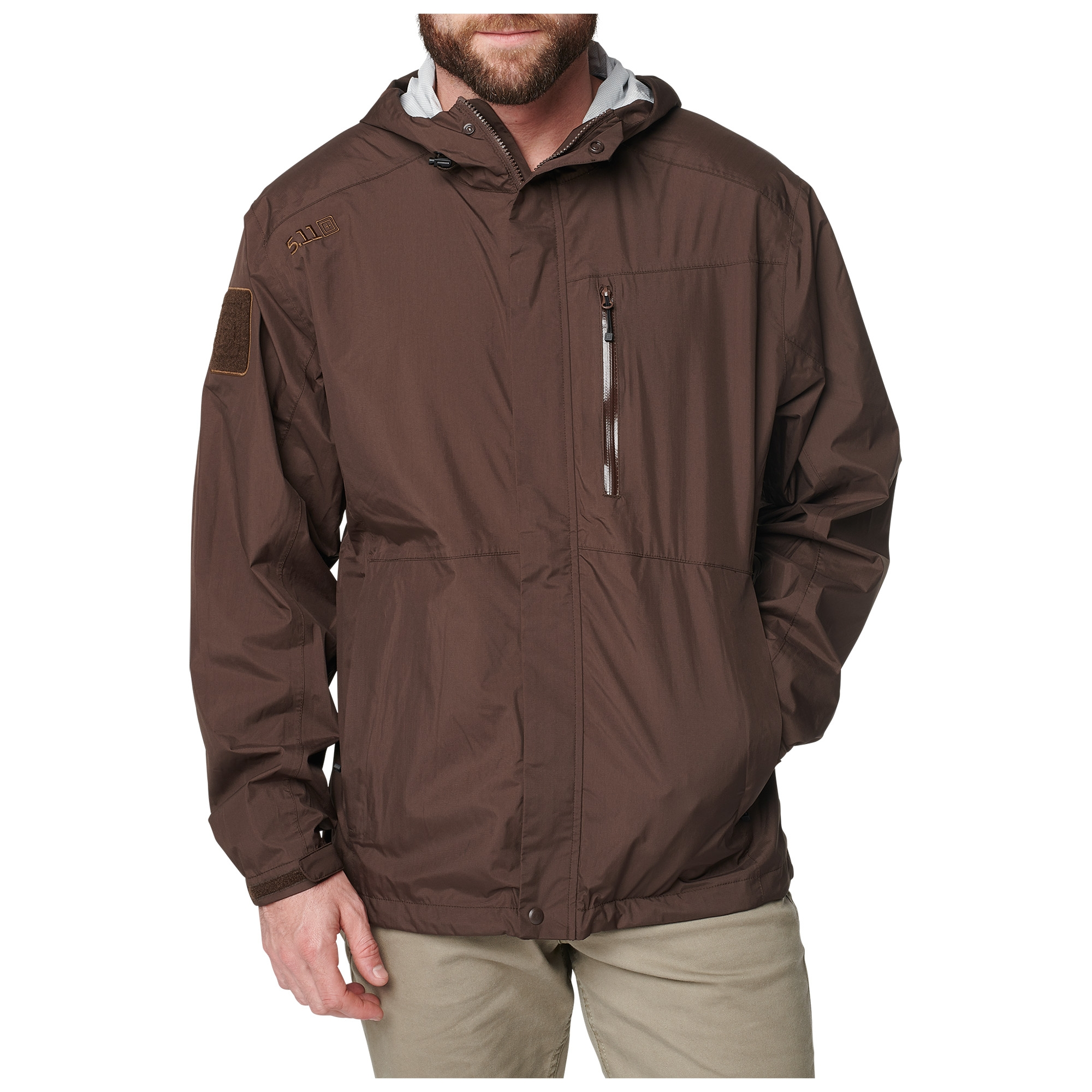5.11 Tactical Men's Aurora Shell Jacket (Brown)