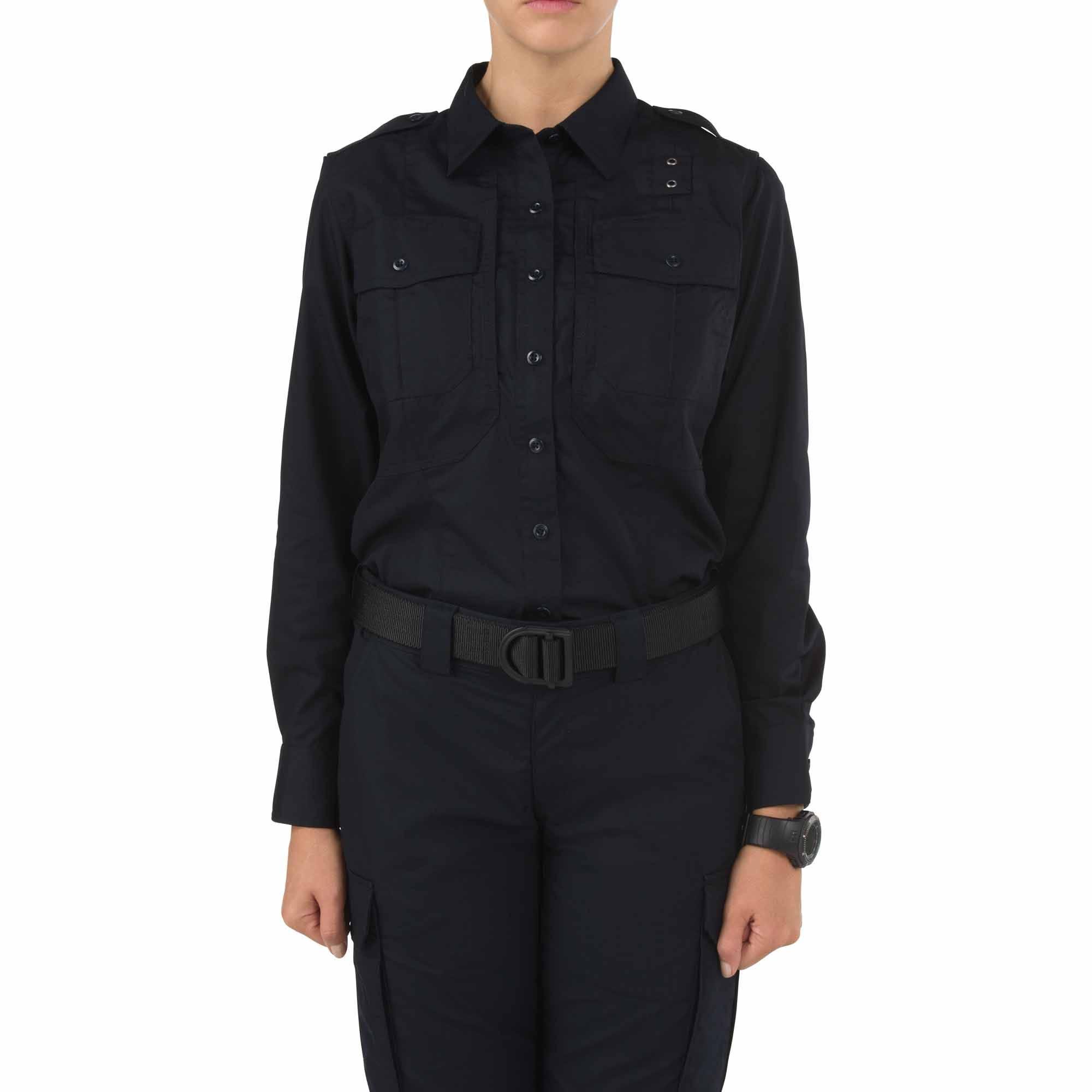 5.11 Tactical Women Women's TACLITE PDU Class-B Long Sleeve Shirt (Blue)