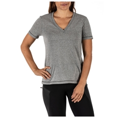 Zoe V-Neck Mock Twist Short Sleeve Tee