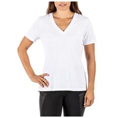Zoe V-Neck Tri-Blend Short Sleeve Tee