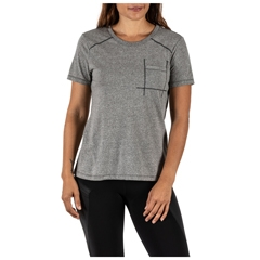 Amelia Crew Mock Twist Short Sleeve Tee