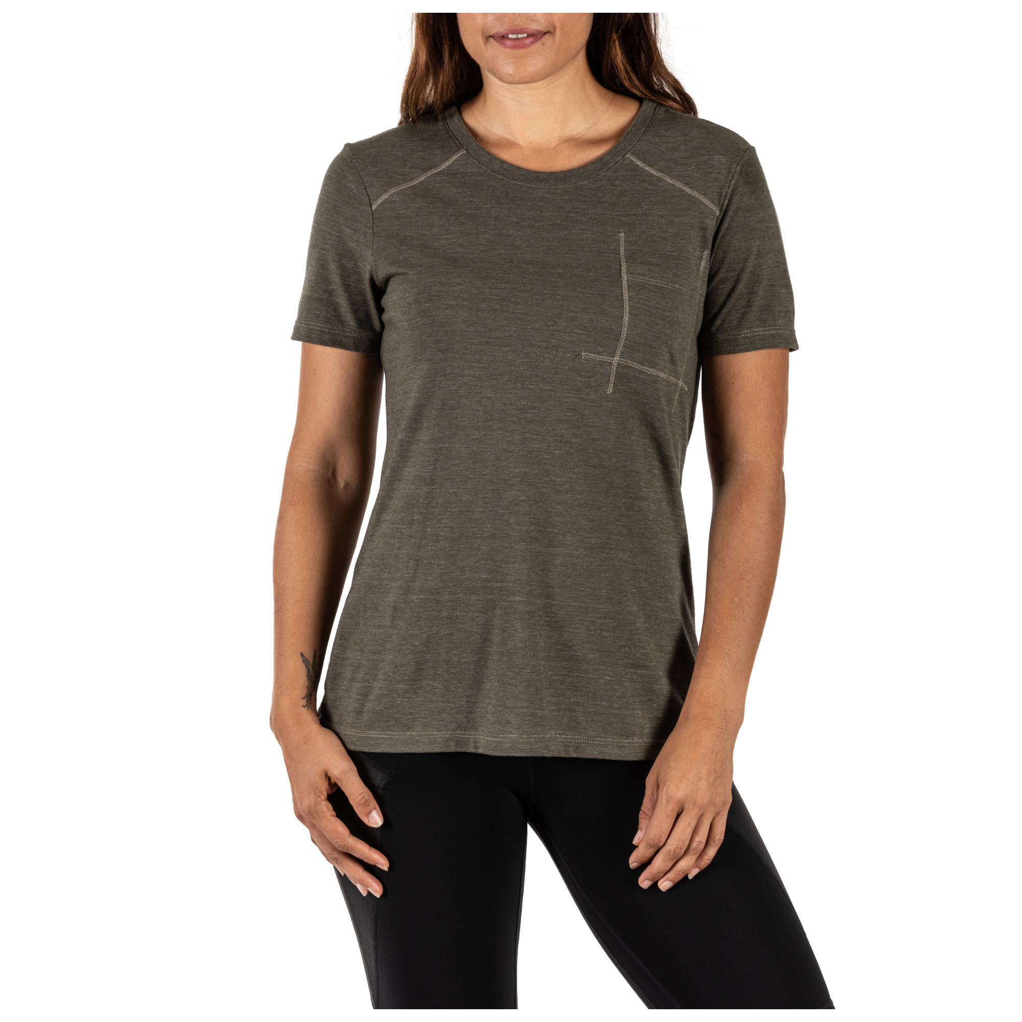 Mechanical Stretch Fabric Wicking Style 31146 5.11 Tactical Womens Willow Henley Training Top