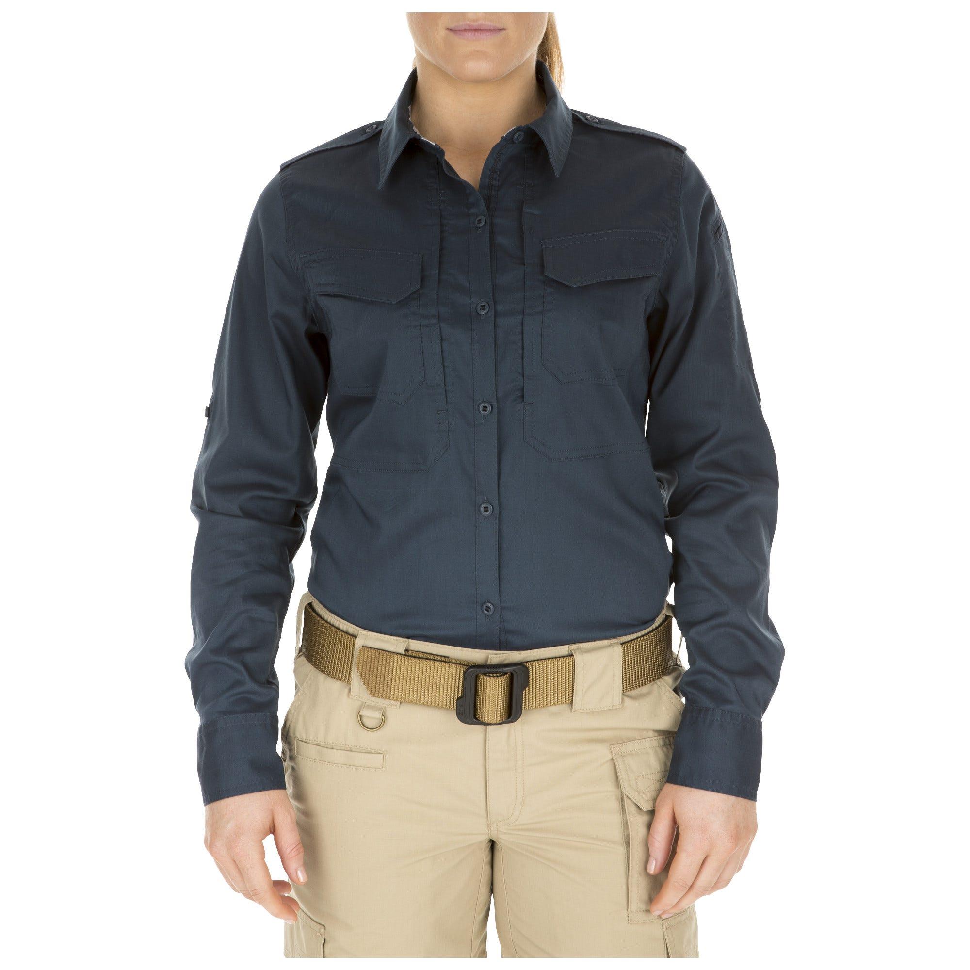 5.11 Tactical Women Women's Spitfire Shooting Shirt (Blue)