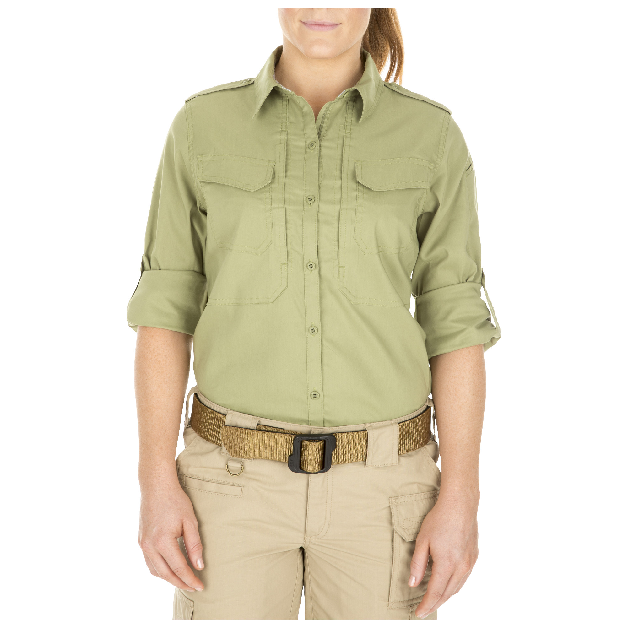 5.11 Tactical Women's Spitfire Shooting Shirt (Green) thumbnail