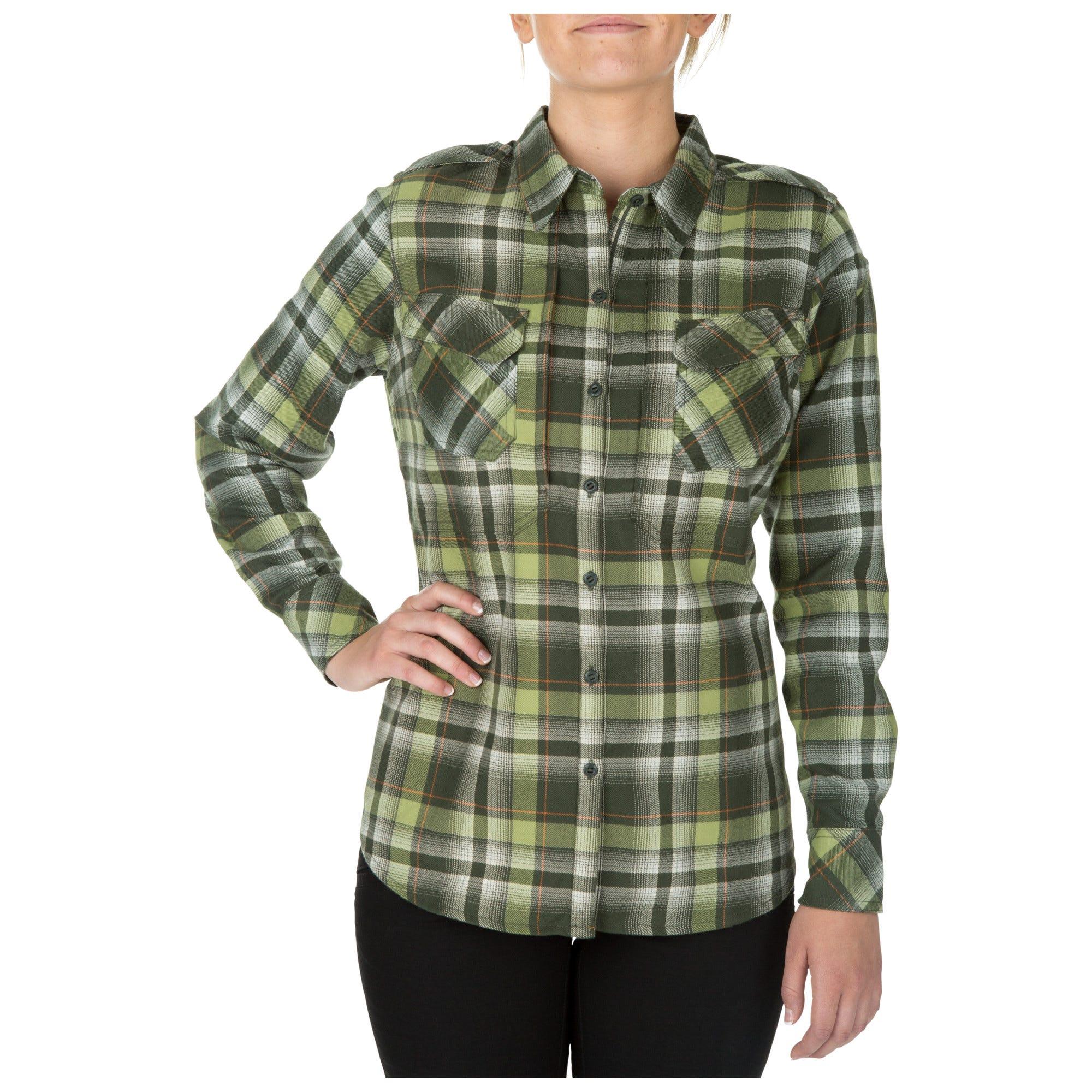 5.11 Tactical Women's Heartbreaker Flannel Shirt (Pink)