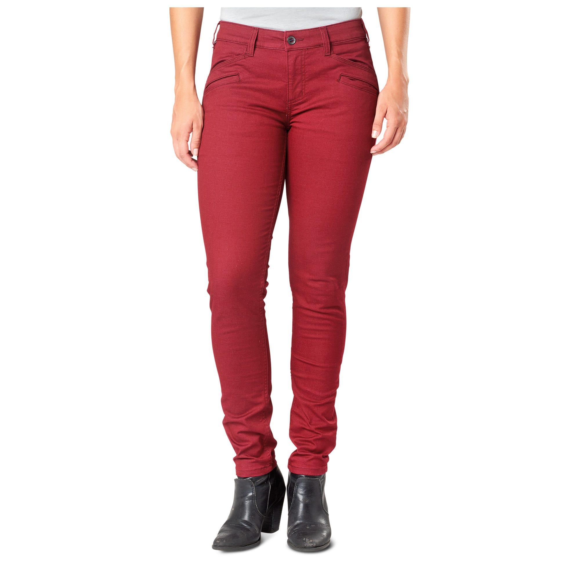 5.11 Tactical Women's Defender-Flex Slim Pant (Red)