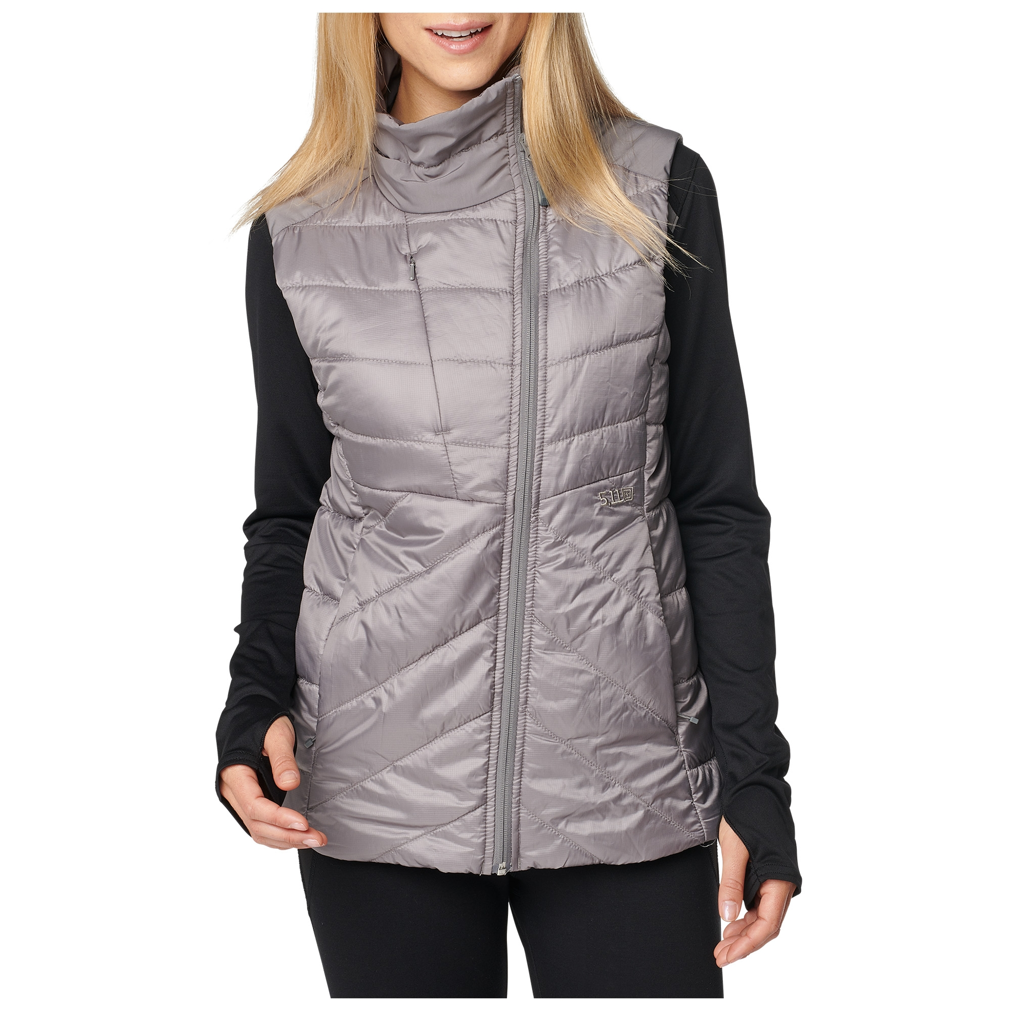 5.11 Tactical Women's Womens Peninsula Insulator Packable Vest (Grey), Size XS (CCW Concealed Carry)