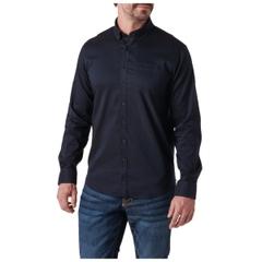 Alpha Flex Long Sleeve Solid Shirt