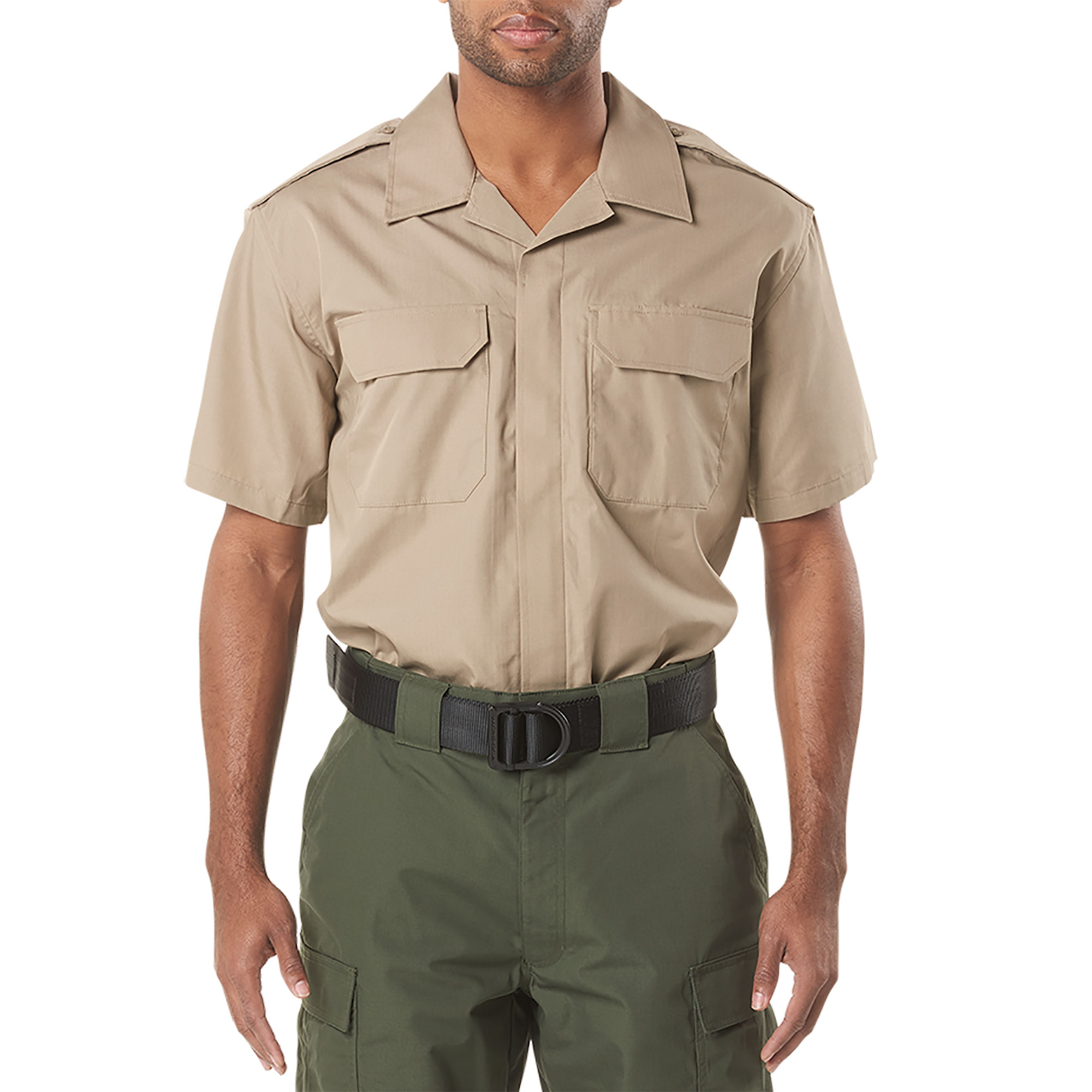 5.11 Tactical Men CDCR Line Duty Short Sleeve Shirt (Khaki/Tan)