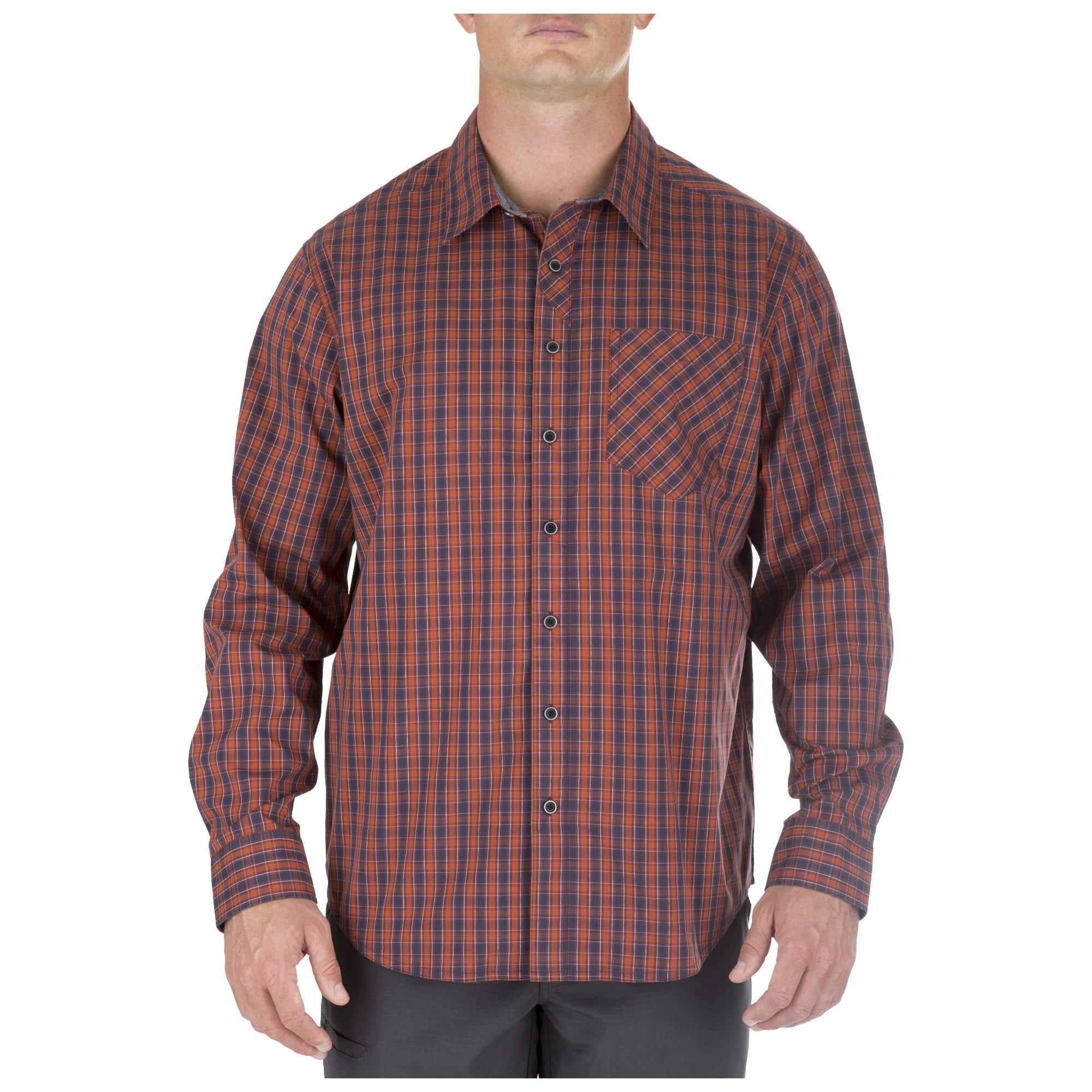5.11 Tactical Men's Covert Flex Long Sleeve Shirt (Grey)