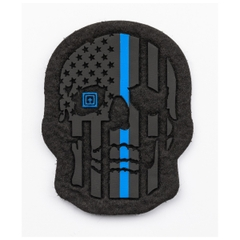 Painted Thin Blue Line Patch