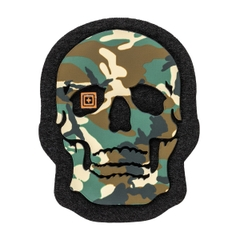 Painted Camo Skull Patch