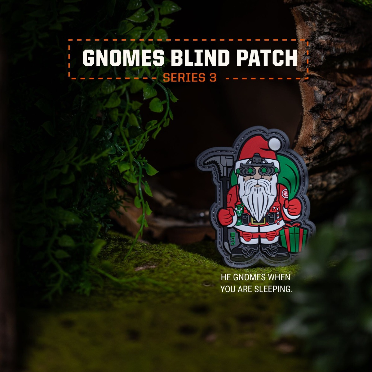 5.11 Tactical Elf Gnome 3D PVC Morale Patch Blind Pack Series 3