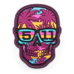 80's Sunset Skull Patch