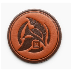 Spartan Coin Leather Patch