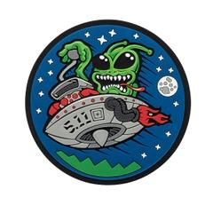 Hotrod Alien Patch