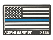 Thin Blue Line Rubber Patch