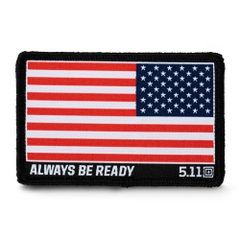 Reverse USA Flag Woven Patch