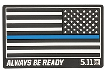 Thin Blue Line Reverse Rubber Patch