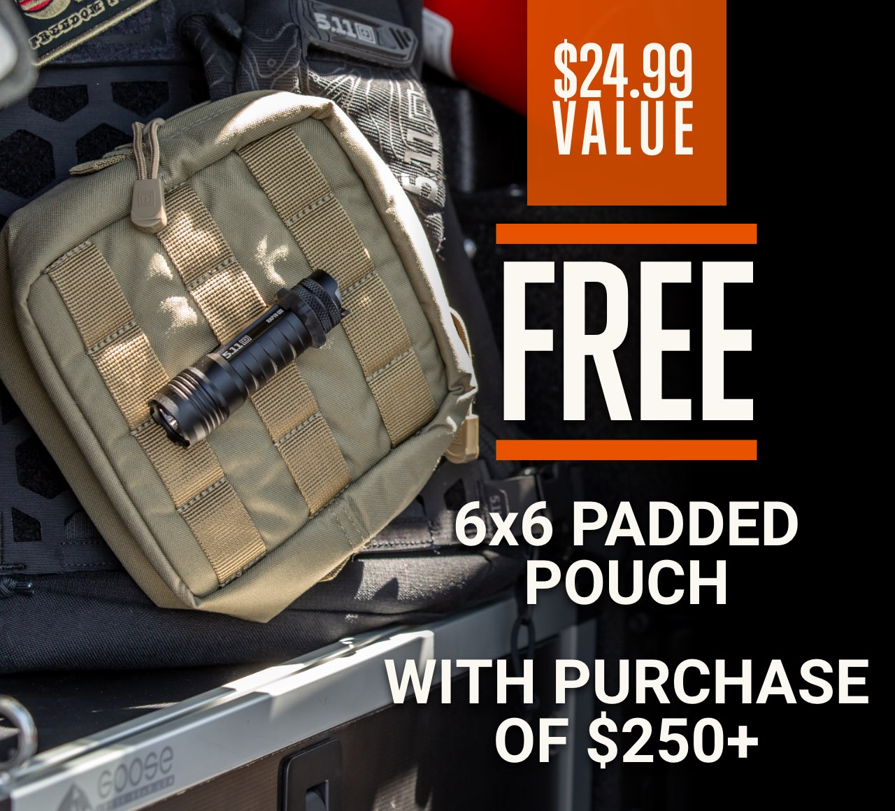 GWP 6x6 Padded Pouch with $250 Purchase