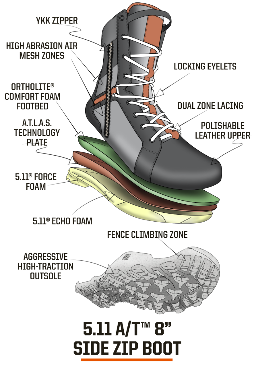 A/T™ 8inch Side Zip Boot