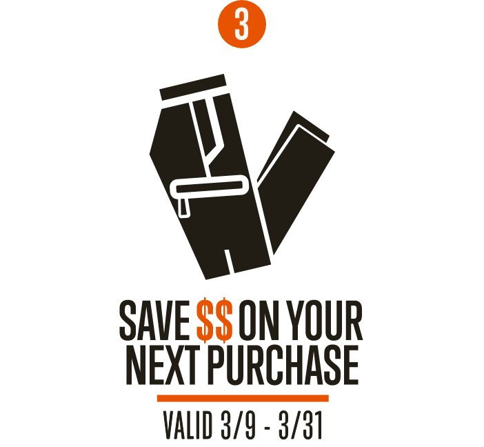 Save Money on your next purchase | Valid 3/9 - 3/31
