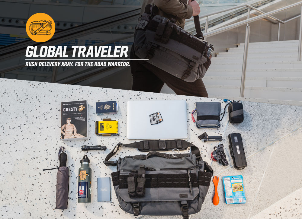 GLOBAL TRAVELER - RUSH DELIVERY XRAY. FOR THE ROAD WARRIOR.