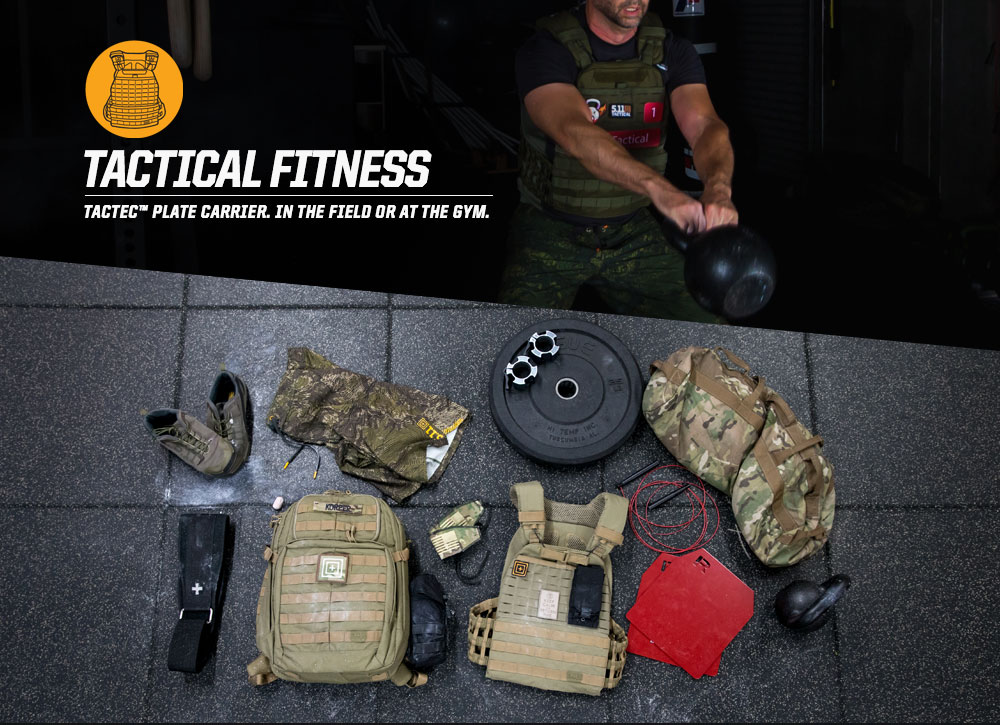 TACTICAL FITNESS - TACTEC™ PLATE CARRIER. IN THE FIELD OR AT THE GYM.